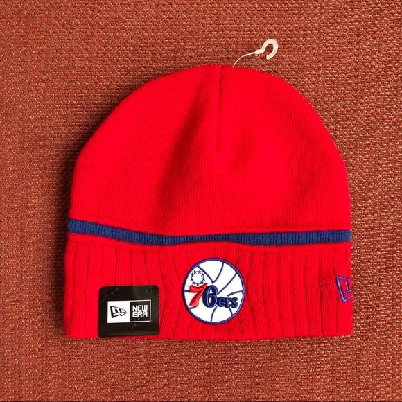 online retailer aae22 e5cbf Philadelphia 76ers 🔴🔵 NBA New Era Beanie Hat NWT